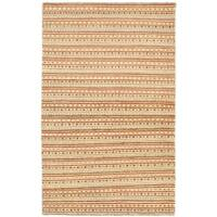 eCarpetGallery Ziegler Yellow/Copper Cotton/Wool Chobi Hand-knotted Rug - 3'10 x 6'0