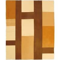 eCarpetGallery Beige/Brown/Cream/Orange Wool Hand-woven Bohemian Kilim Rug