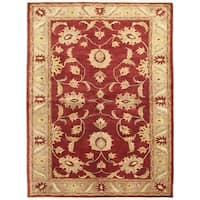 ecarpetgallery Hand-knotted Chobi Finest Red Wool Rug (6'4 x 8'5)