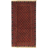 eCarpetGallery Finest Rizbaft Red Wool Hand-knotted Rug - 3'7 x 6'9