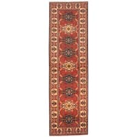 eCarpetGallery Brown Wool Hand-knotted Finest Kargahi Rug (2'11 x 9'9)