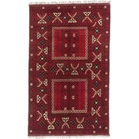 Ecarpetgallery Hand-knotted Finest Khal Mohammadi Red Wool Rug (5'2 x 8'5)