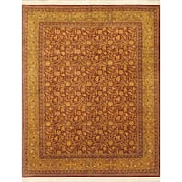 eCarpetGallery Hand-knotted Double-knot Orange/Red Wool Rug (8'1 x 10'1)