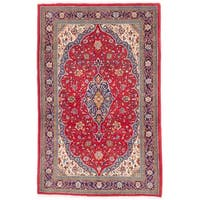 ecarpetgallery Hand-Knotted Persian Sarough Red Wool Rug - 4'5 x 6'11
