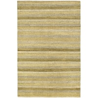 Ecarpetgallery Hand-knotted Finest Ziegler Chobi Green and Multi Wool Rug (5'4 x 8'2)