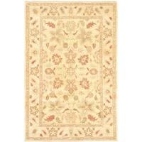 Ecarpetgallery Hand-knotted Chobi Finest Beige Wool Rug (6'3 x 9'4)