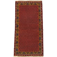 eCarpetGallery Hand-knotted Herati Red Wool Rug (3'4 x 6'5)