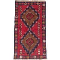 eCarpetGallery Hand-knotted Kazak Red Wool Rug (3'4 x 6'3)