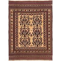 ecarpetgallery Handmade Ghafkazi Red and Yellow Wool Sumak Rug