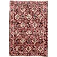 ecarpetgallery Hand-knotted Persian Bakhtiar Red Wool Rug (6'11 x 10'1)