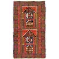 eCarpetGallery Hand-knotted Kazak Red Wool Rug - 3'8 x 6'5
