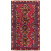 eCarpetGallery Kazak Dark Navy/Red Wool Hand-knotted Rug (3' 6 x 6' 1)