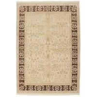 Ecarpetgallery Hand-knotted Peshawar Oushak Beige Wool Rug (6'1 x 8'9)