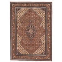Ecarpetgallery Hand-knotted Persian Vogue Brown Wool Rug (6'10 x 9'6)