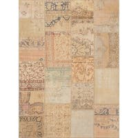 Ecarpetgallery Hand-knotted Sunwash Patch Beige Wool Rug (5'7 x 7'8)