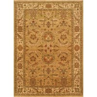 Ecarpetgallery Hand-knotted Royal Ushak Beige and Brown Wool Rug (6'5 x 8'10)
