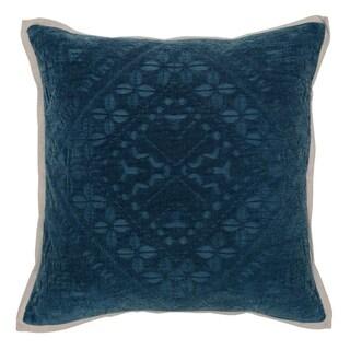 """Willow 100% Cotton 20"""" Throw Pillow by Kosas Home, Indigo"""