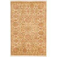 Ecarpetgallery Hand-knotted Royal Ushak Beige Wool Rug (5'6 x 8'6)