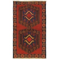 eCarpetGallery Hand-knotted Kazak Red Wool Rug - 3'6 x 6'2