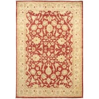 Ecarpetgallery Hand-knotted Chobi Finest Red Wool Rug (6'5 x 9'5)