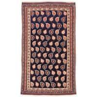 ecarpetgallery Hand-Knotted Persian Guchan Blue Wool Rug - 3'11 x 6'7