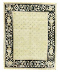 Nourison Hand-knotted Court of Versailles Gold Wool Rug (3'9 x 5'9)