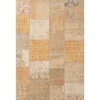 ecarpetgallery Hand-knotted Sunwash Patch Beige Wool Rug (6'6 x 9'8)