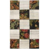 eCarpetGallery Beige/Brown Wool Moldovia Hand-made Duo-patch Kilim Rug (3'9 x 6'6)