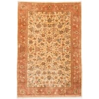 ecarpetgallery Hand-knotted Persian Sarough Yellow Wool Rug - 6'5 x 9'5