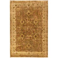 Ecarpetgallery Hand-knotted Mirzapur Green Wool Rug (5'9 x 8'6)