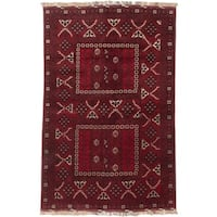 Ecarpetgallery Hand-knotted Finest Khal Mohammadi Red Wool Rug (5'3 x 8')
