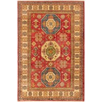 Ecarpetgallery Hand-knotted Finest Gazni Red Wool Rug (6'5 x 9'9)