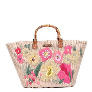 Nicole Lee Natayla Floral Straw Bag