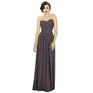 Dessy Lux Chiffon Sweetheart Neckline Strapless Full Length Dress