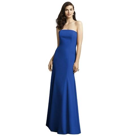 Dessy Crepe Trumpet Skirt Strapless Full Length Dress