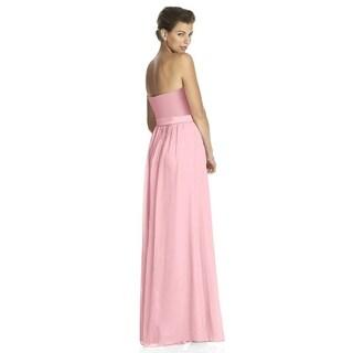 Lela Rose Lace and Satin Strapless Full Length Dress