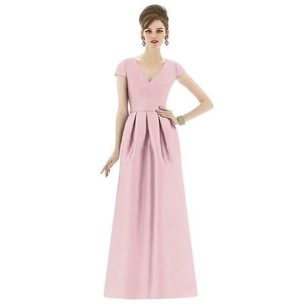 Alfred Sung V-neck Full Length Dress