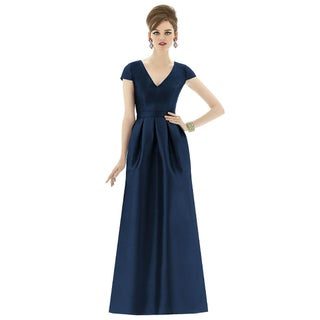 Alfred Sung V-neck Full Length Dress