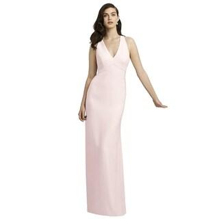 Dessy Crepe V-neck Full Length Dress