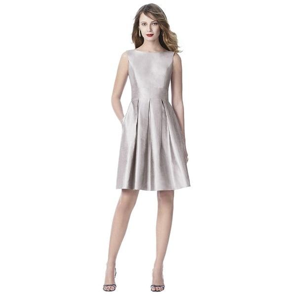 64e212fab Shop Dessy Silk Shantung Sleeveless Cocktail Length Dress - Free ...