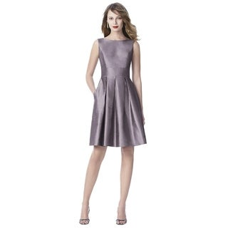 Dessy Silk Shantung Sleeveless Cocktail Length Dress
