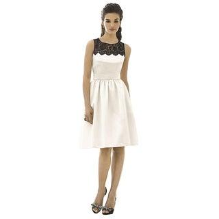 After Six Black Lace Yoke Sleeveless Cocktail Length Dress