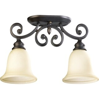 Bryant Oiled Bronze and Amber Scavo 2-light Flush Mount