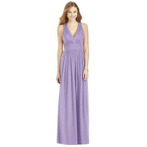 After Six Passion Purple Chiffon Full Length Dress