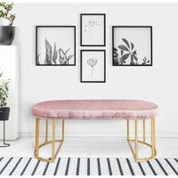 Ave Six Kinsley Gold Frame Velvet Bench