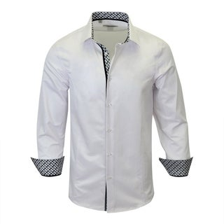 Contreasted Modern-Fit Men's Dress Shirt From Monza (More options available)