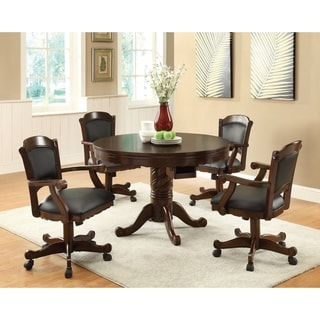 Turk Casual 5-piece Game Table and Arm Chair Dining Set