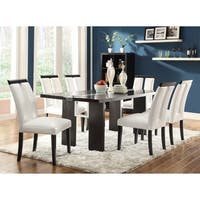 Kenneth Contemporary Black 5-piece Dining Set with LED Lighting