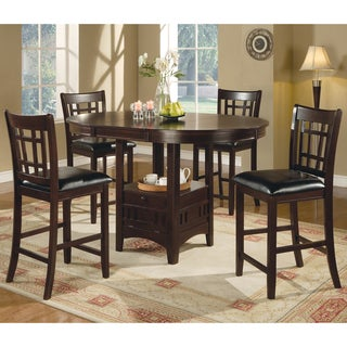 The Gray Barn Bracken Hill Transitional Espresso 5-piece Counter-height Dining Set