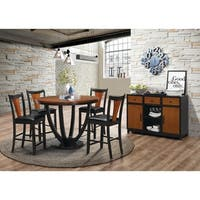 Boyer Transitional Amber and Black 5-piece Counter-height Dining Set